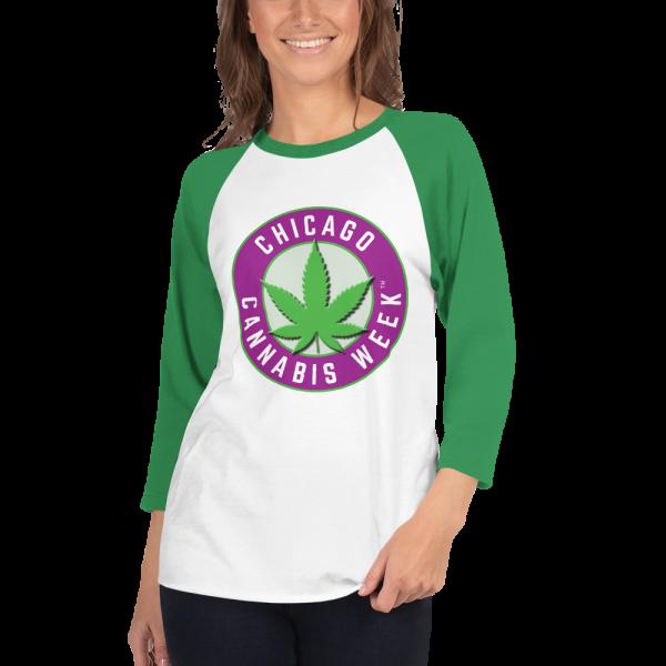 Order My Chicago Cannabis Week 3/4 Sleeve Raglan Shirt Now!